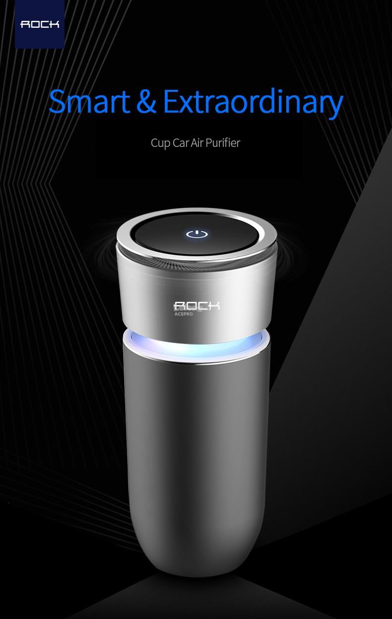 Car Air Purifier : Rock cup car air purifier end pm