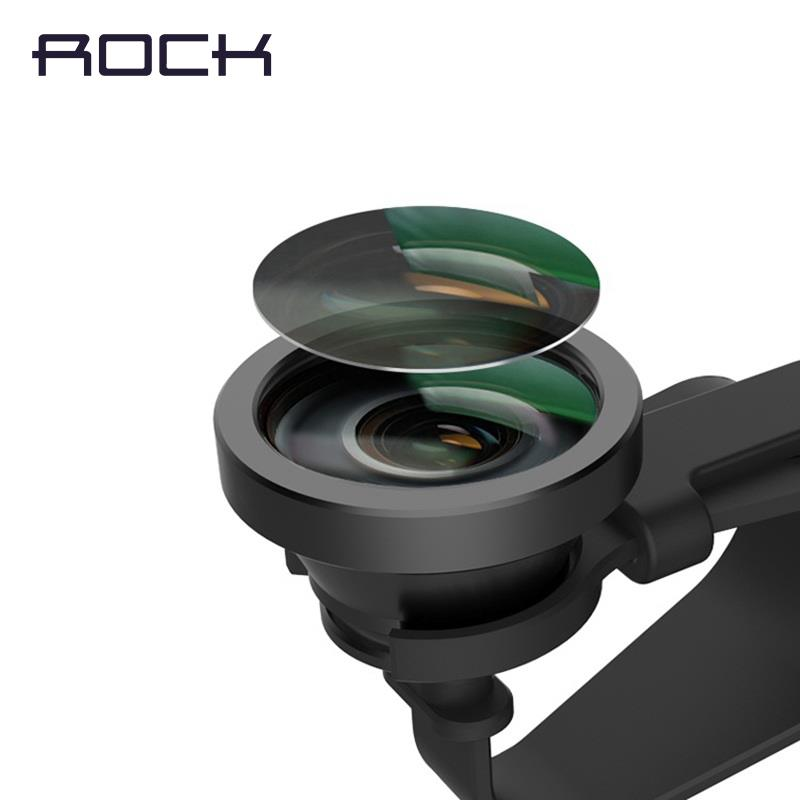 Rock Detachable Wide Angle Lens with Universal Clip and Cap Protection