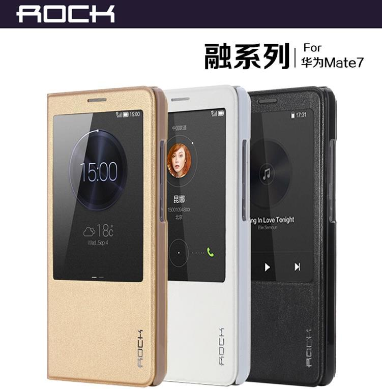 quality design 21139 07b76 Rock Huawei Ascend Mate 7 Flip Smart Case Cover Casing + Free Gift