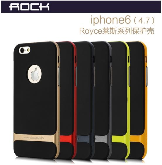 ROCK iPhone 6 6S 4.7' 6 Plus 5.5' ShakeProof Back Case Cover+ Free SP
