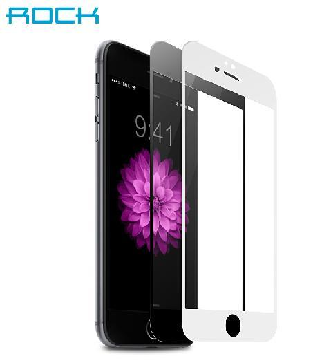 ROCK Iphone 6 plus 5.5 inch Tempered Glass Free Rock Steel Bumper