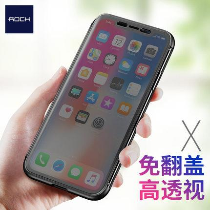 Rock Iphone X Transaprent Invisible Flip Case Casing Cover