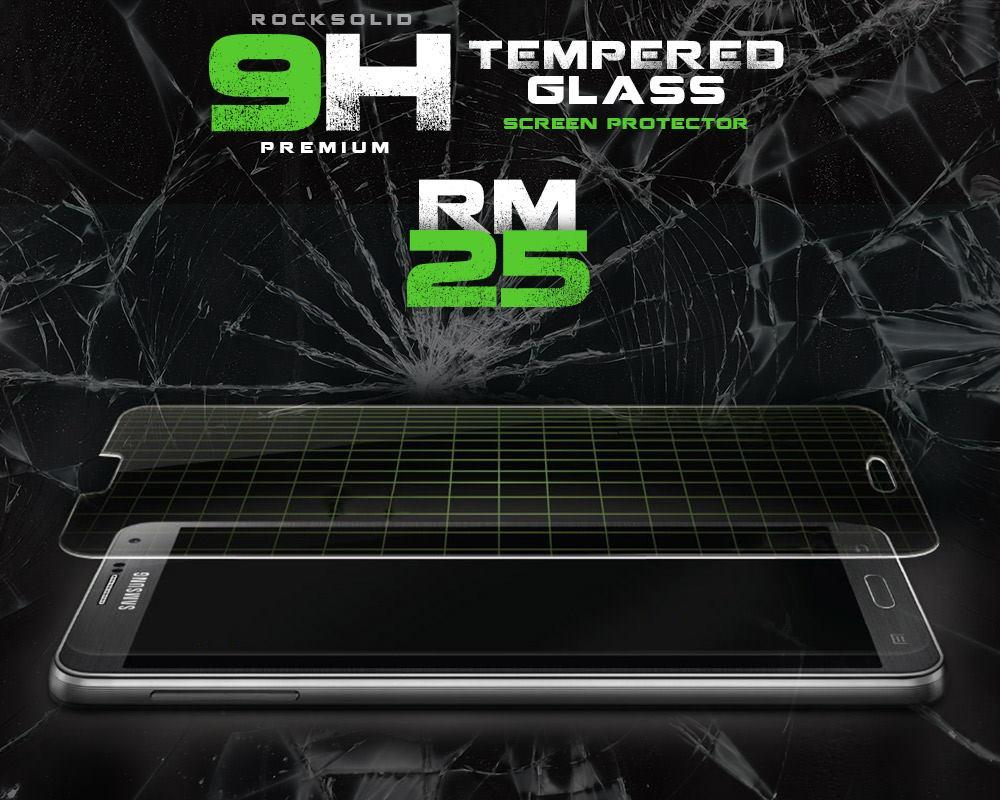 Rock Solid 9H Premium Light Weight 0.25mm Tempered Glass S/Protector