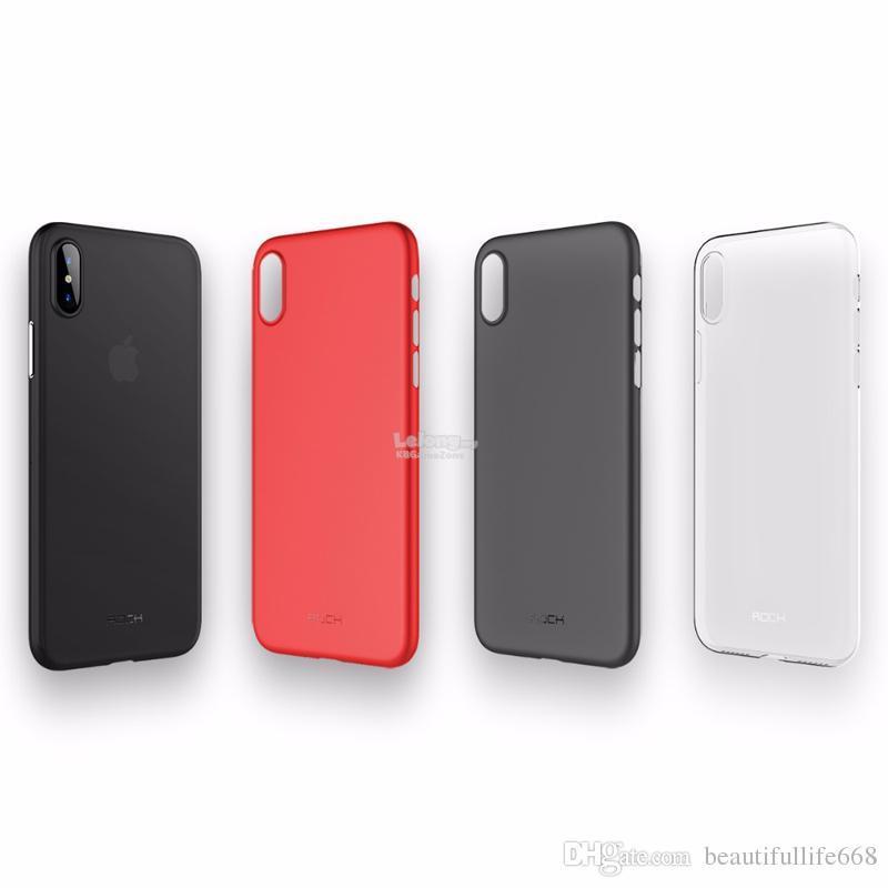 finest selection fdb4e 8d2b0 Rock Space Slim Case iPhone X 10 phone Matte Anti-finger soft TPU back