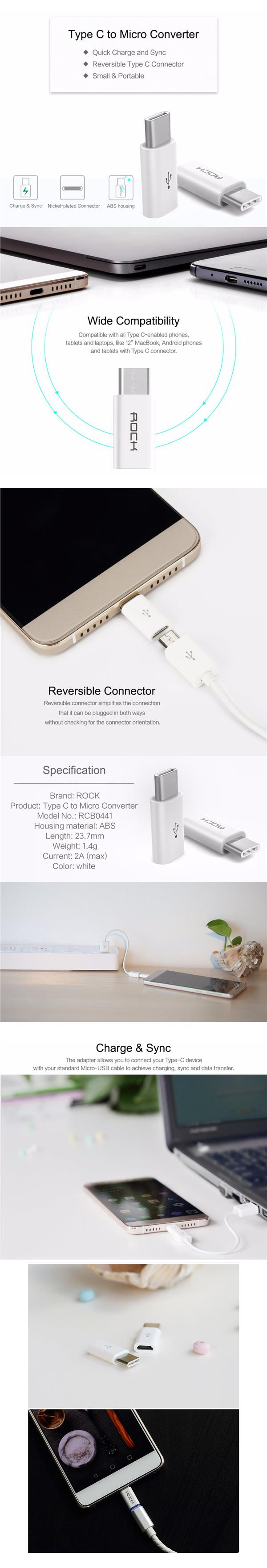 ROCK Type-C to Micro USB Adapter