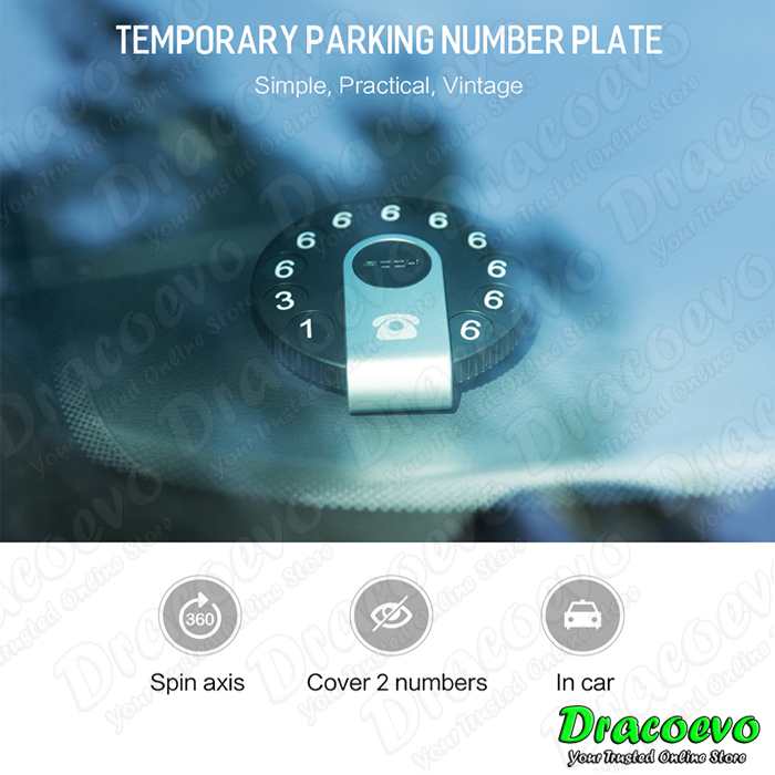 Rock Universal Temporary Parking Number Plate Car Move Call