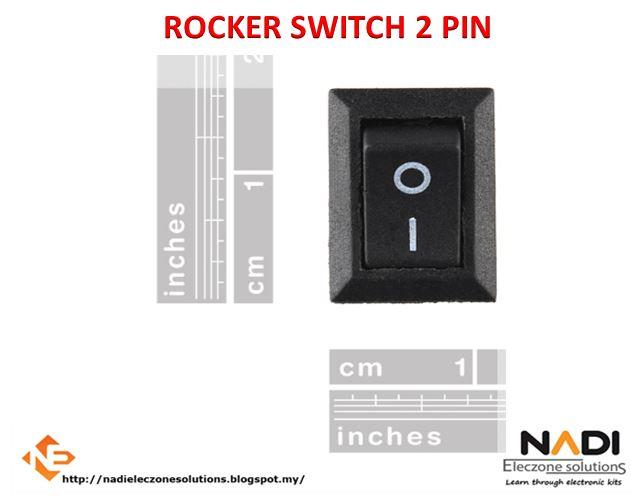 Rocker Switch 2 Pin ON OFF Toggle SPST Switches