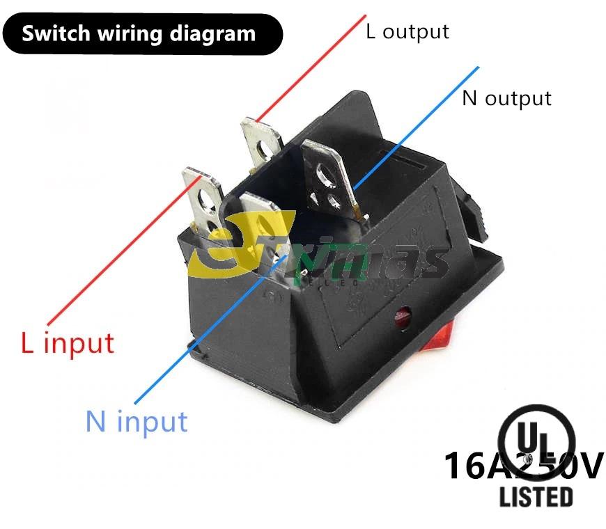 4 pin rocker switch wiring diagram