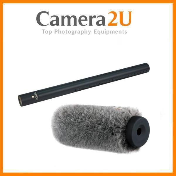 Rode NTG3B RF-Bias Shotgun Microphone and Auray Fur Windshield Kit