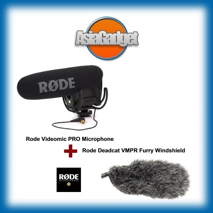Rode Videomic Pro Rycote Microphone FREE Rode Deadcat VMPR Windshield