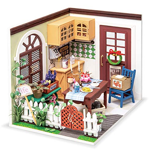 Rolife DIY Miniature Dollhouse Kit Kitchen Diorama Scale Model Gifts for Teens