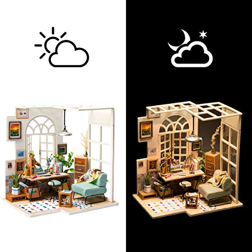 Rolife Miniature Dollhouse-DIY Wooden House Kit-3D House Puzzle Model-Creative