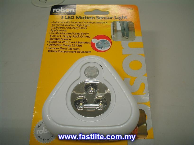 Rolson 3 LED motion sensor wireless light (For Nightlite to Washroom)