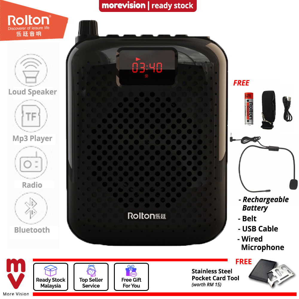 Rolton K500 Bluetooth Portable Microphone Loud Speaker Amplifier