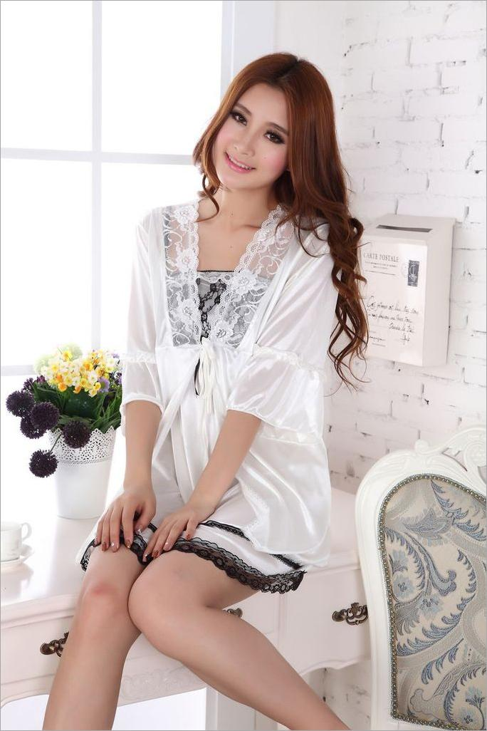 Romantic Lace Ice Silk 2pcs Sexy Lingrie