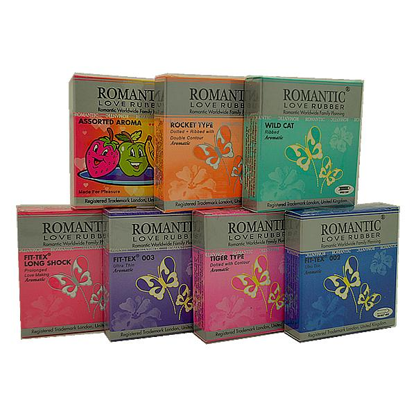 Romantic Love Rubber 3's 7 in 1 Condom / Kondom Pack - 21's