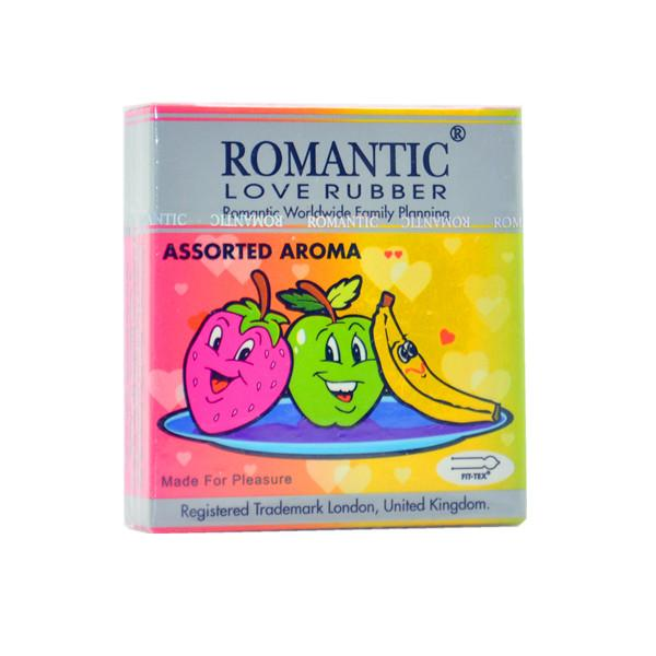 Romantic Love Rubber Aroma Assorted Condom (Kondom) - 3's