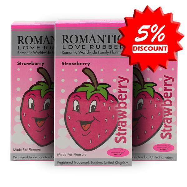 Romantic Love Rubber Aroma -Strawberry Condom (Kondom) - 12's