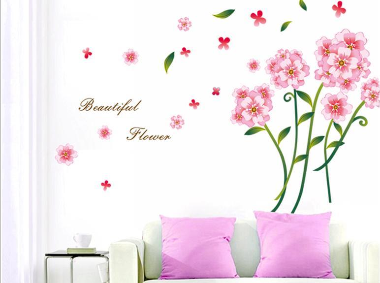 romantic wall sticker pink flower c (end 12/26/2018 8:57 pm)