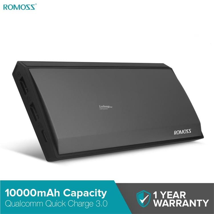 Romoss Power Bank Techno TN10 10000mah 3-Output With Quick Charge 3.0