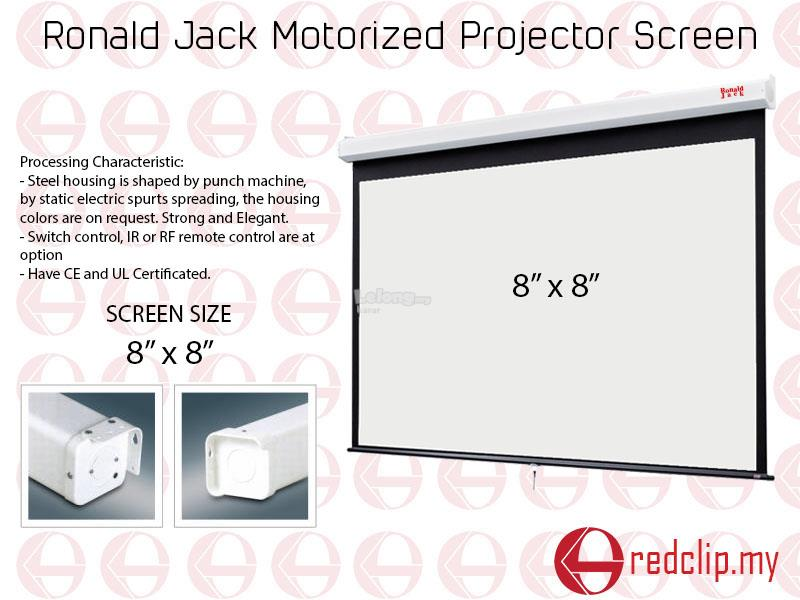Ronald Jack Motorized Projector Screen 8' x 8'