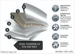 Roofing heat insulation Malaysia thermal aluminium bubble foil