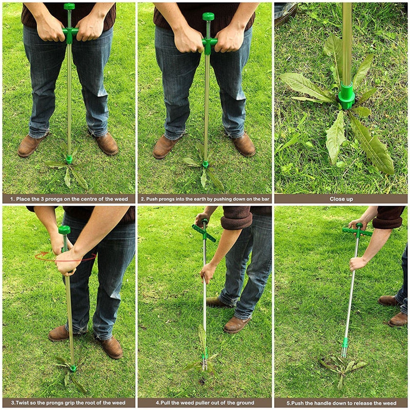 Root Remove Claw Weeder Outdoor Garden Grass Killer Tool PORTABLE Manu