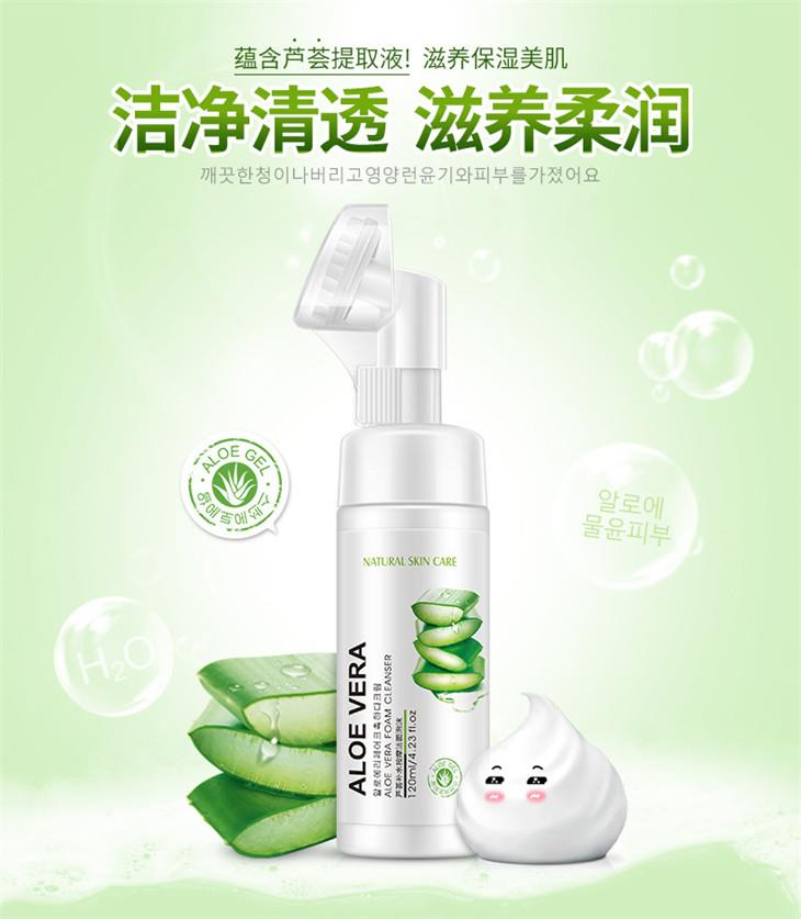 Rorec~ Aloe Vera Foam Cleanser 120ml
