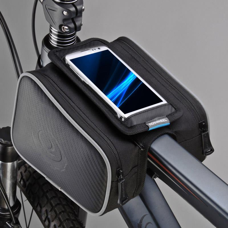Popular Brand Bike Cycling Bicycle Front Top Tube Frame Pannier Double Bag Pouch For Cellphone Bicycle Accessories Cycling