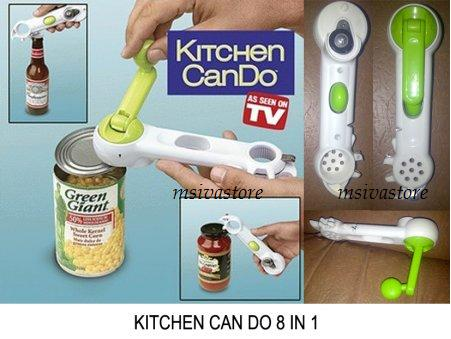 Rotary Can Bottle Jar Kitchen CanDo Opener Kitchen Tool 8 in 1. Buynow