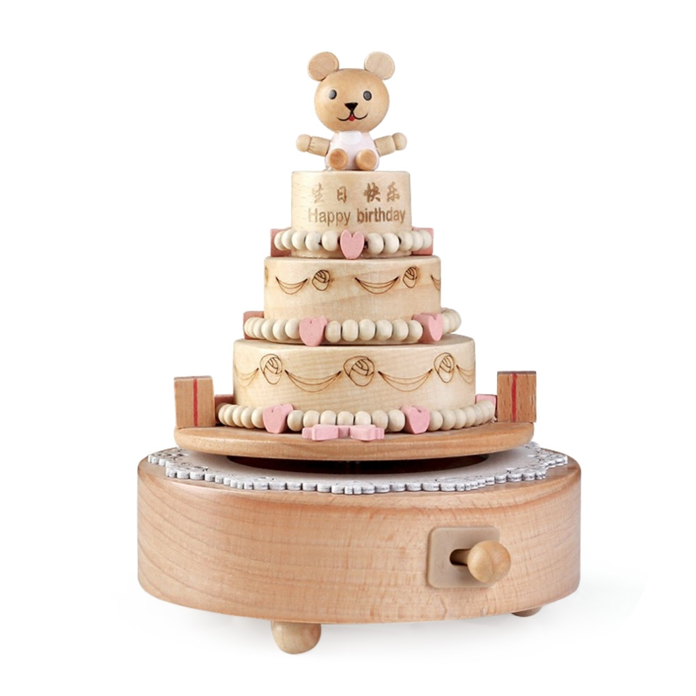 ROTATABLE SWEET CAKE WOODEN MUSIC BOX end 392020 610 PM