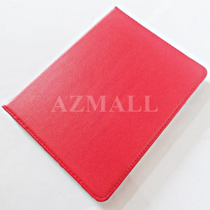 Rotate Multi Stand Leather Pouch Case Cover for Apple iPad 2 3 4 ~RED