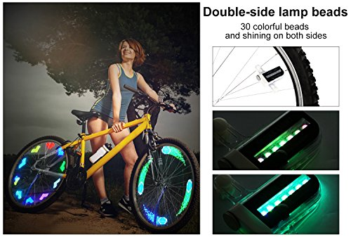 Rottay Bike Wheel Lights, Bicycle Wheel Lights Waterproof RGB Ultra Bright Spo