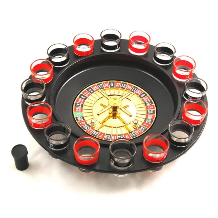 Roulette Drinking Game Set with 16 Shot Glass Challenge Casino Party
