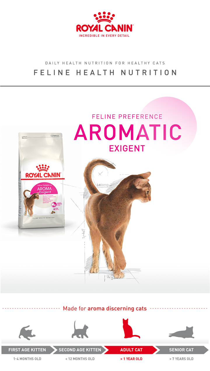 Royal Canin Exigent 33 Aromatic Cat Food - 4Kg
