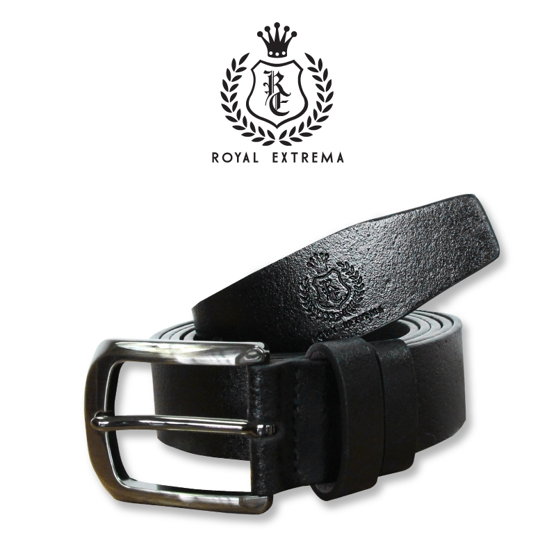 ROYAL EXTREMA PLUS SIZE Smart Casual Leather Belt REBT001 (Black)