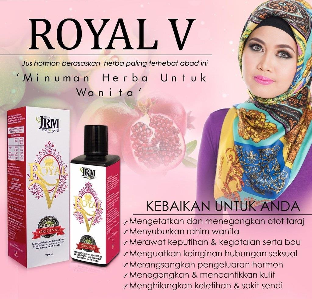 Royal V Jamu Ratu Malaya/Woman Herbal Hormone Supplement