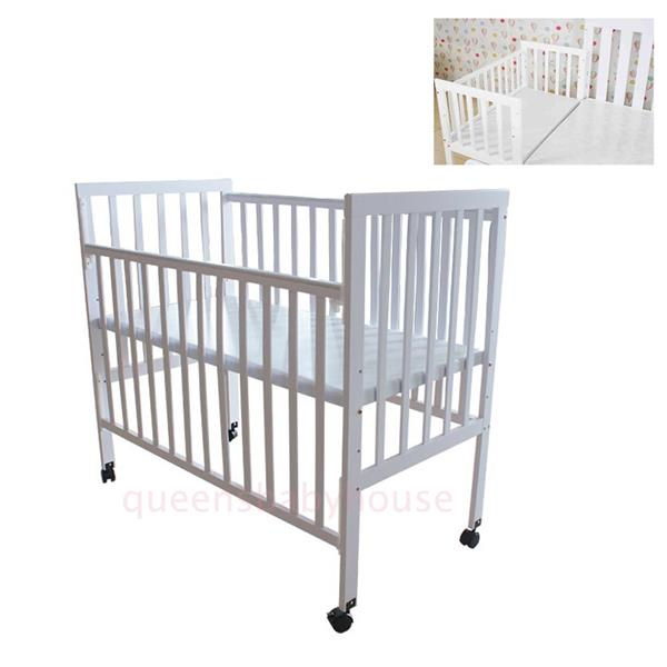 online retailer 62d81 21526 Royalcot R108 White (size 60 x 120 cm) Baby Cot Bed Wooden (White)