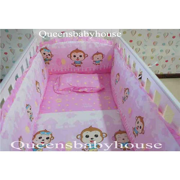 Royalcot R110 White Pink + Free Bedding Pink Monkey