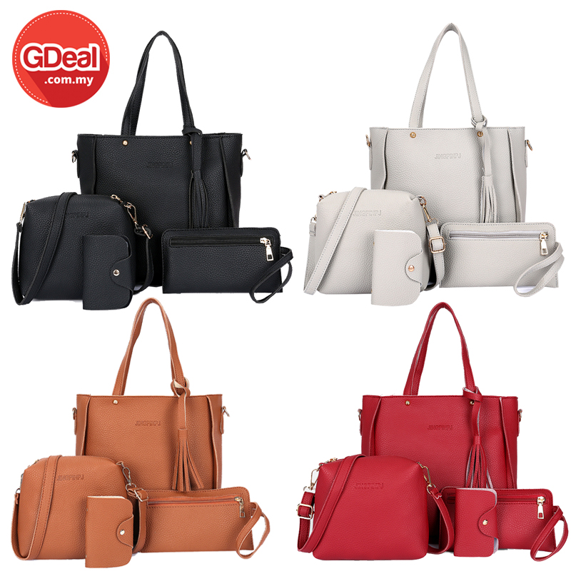 ROYALE 4-In-1 Leather Bags Fashion W (end 8 6 2021 12 00 AM) 41e0c028253f4