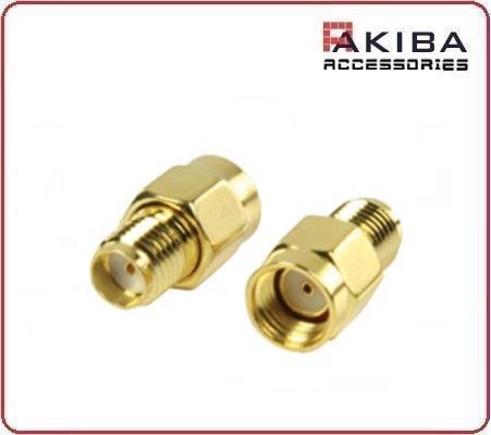 RP-SMA-JK RF Connector SMA Male Inner Hole to Hole Female Outer Thread