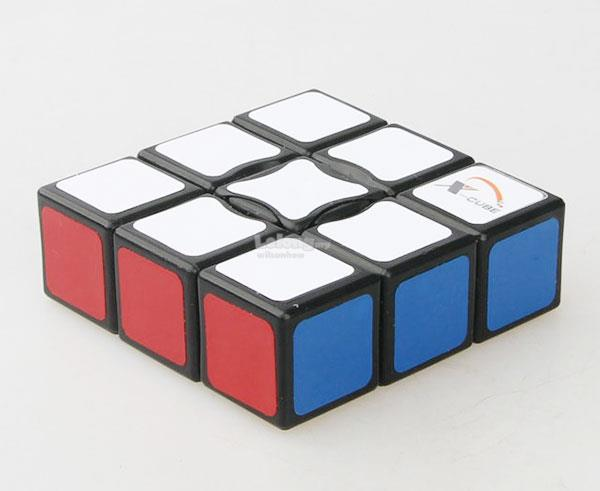 Rubik's Cube - X-Cube 1x3x3 Single Layer Cube PVC Black