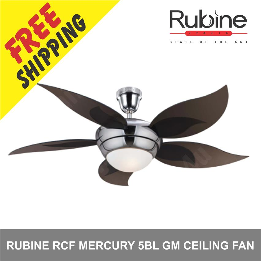 Rubine 52 Rcf Mercury 5bl Gm Ceiling Fan