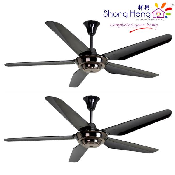 Rubine Picco201 Remote Ceiling Fan 5blade Metal Color 2 Set