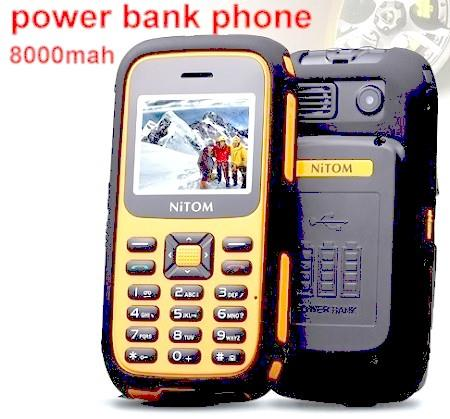 Rugged Power Bank Senior Phone (8000mAh, Dual Sim) (WP-K28).