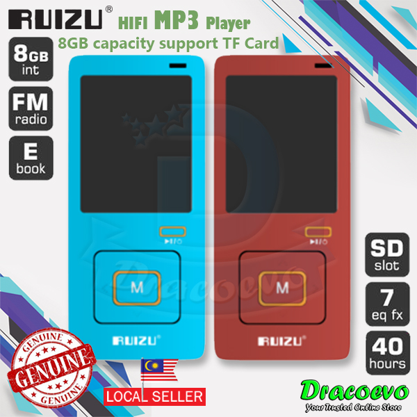 RUIZU X10 MP3 MP4 Player Voice Recording 8GB Radio FM Video Ebook