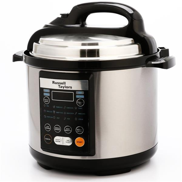 Russell Taylors 4L Electric Pressure Cooker PC-40, stainless steel pot