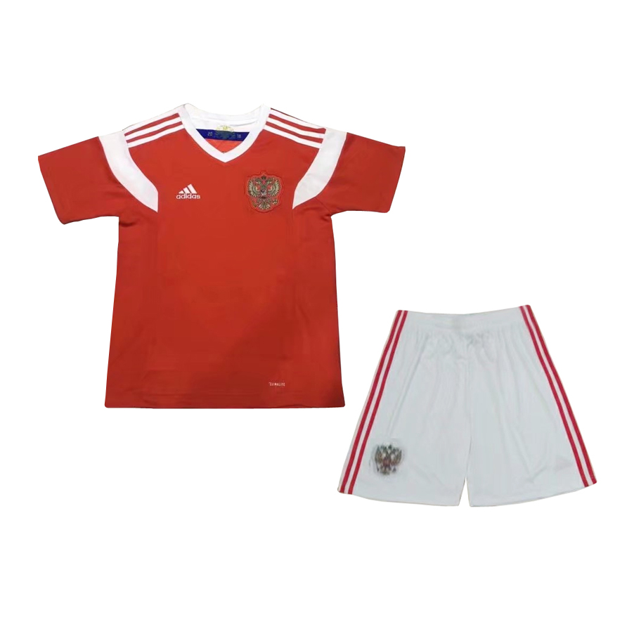 reputable site 78e4a 32f06 Russia Kid Home World Cup 2018 CLIMALITE Fans Jersey and Short