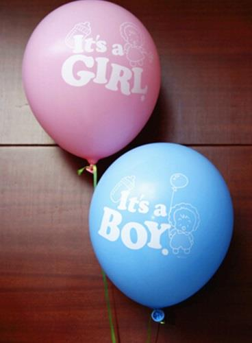 It's A Baby Boy/Baby Girl Latex Balloon 12 inch New Born Full Moon