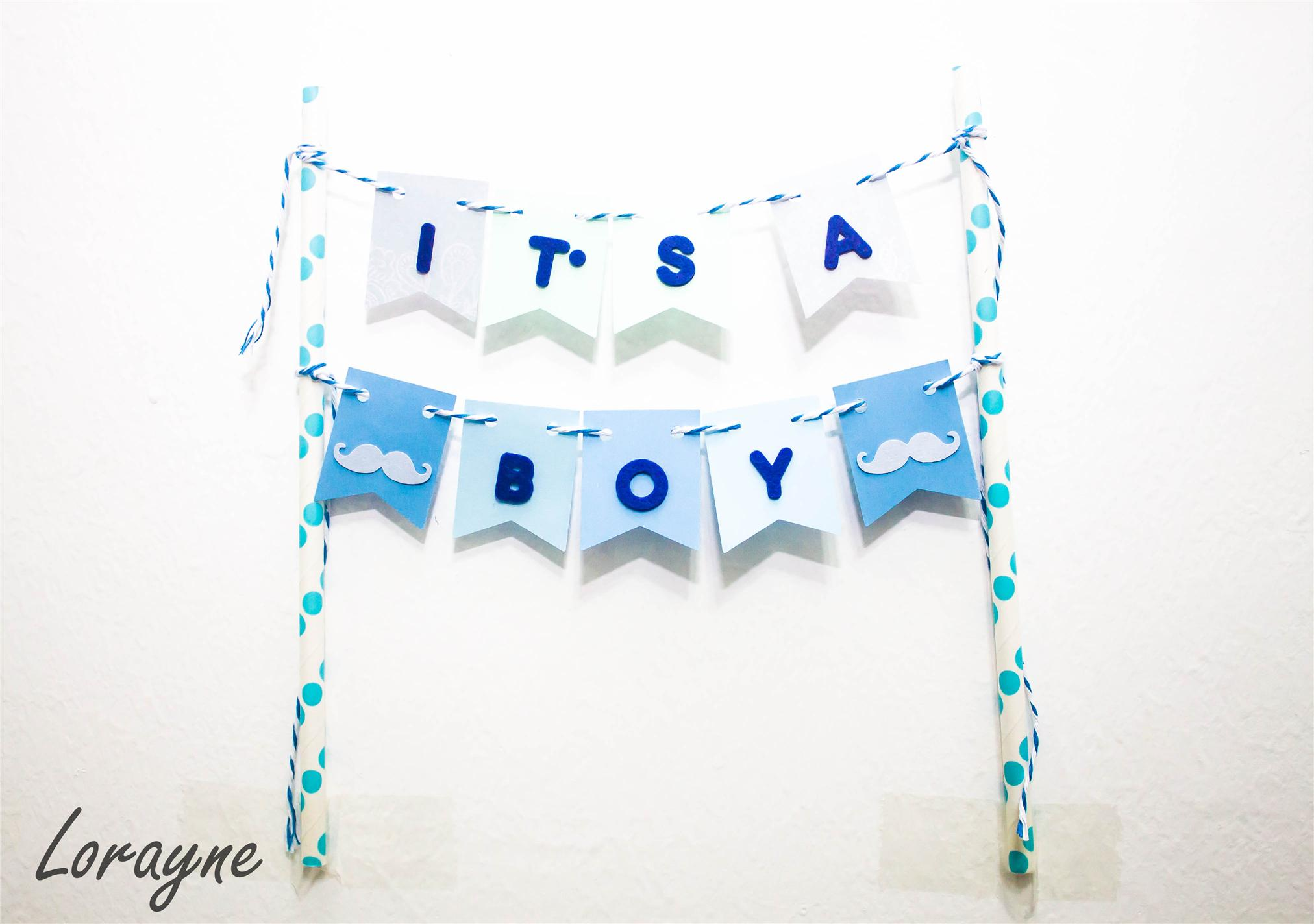 IT S A BOY Cake Bunting Cake Topper end 6 17 2016 2 15 PM